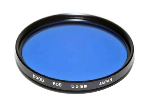 High Quality Optical Glass 80B Filter Made in Japan 55mm Kood